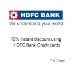 Snapdeal HDFC Bank Credit Card Offer Get 10% Discount every Friday