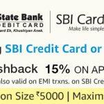 Amazon SBI Credit/Debit Card offer Get 15% Cashback